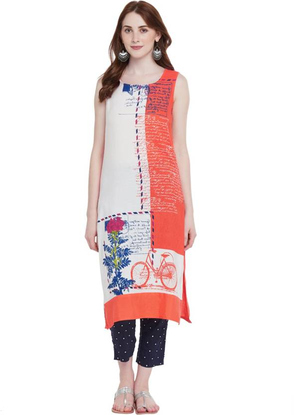 d1e85365314 Rangmanch by Pantaloons Women Floral Print Straight Kurta - Buy ...