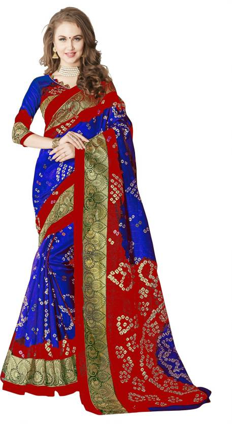 5b52053df6804 Buy Sariya Printed Bandhani Art Silk