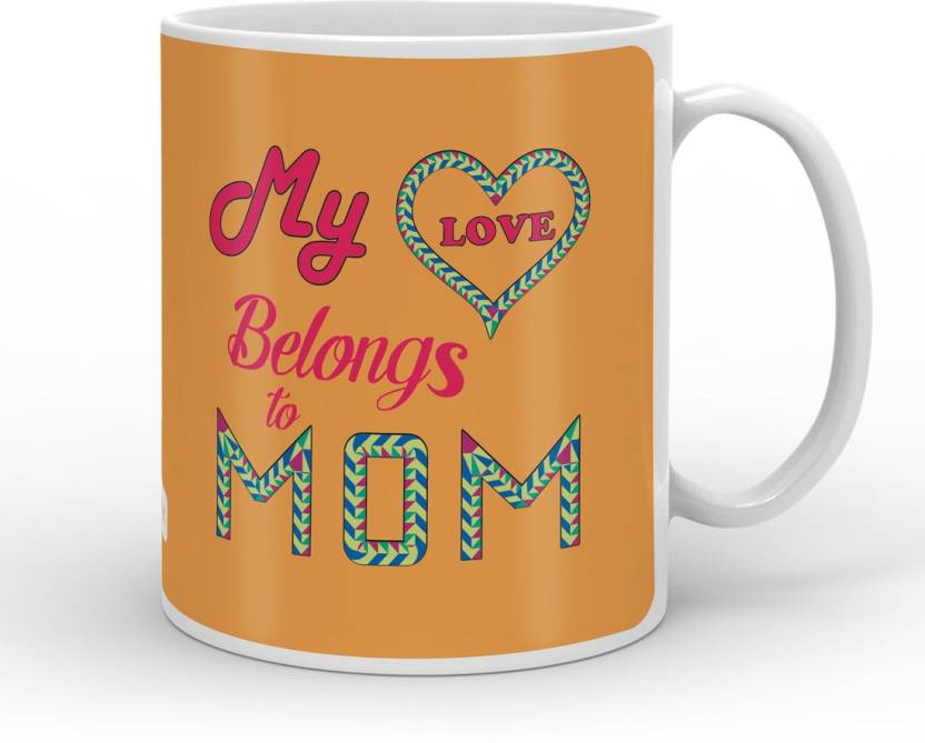 indigifts decorative gift items my love belongs to my mom quote mothers day special gift