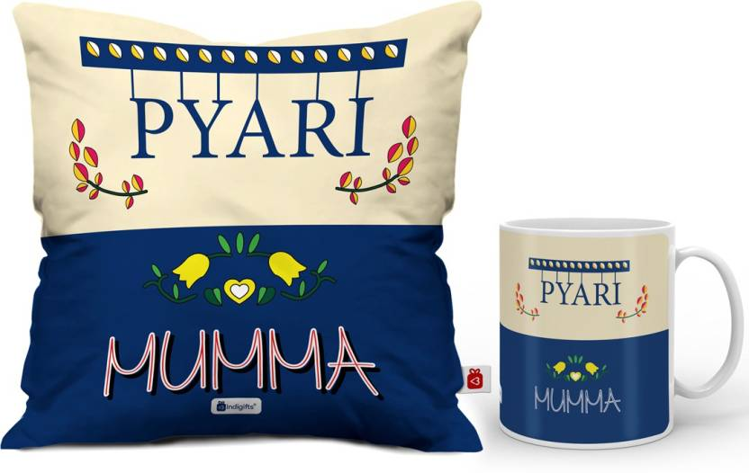 Indigifts Mothers Day Special Gift For Mom Mummy Mother In Law Grandma Birthday Cushion Best D CM001 MOM17271 Mug Set Price