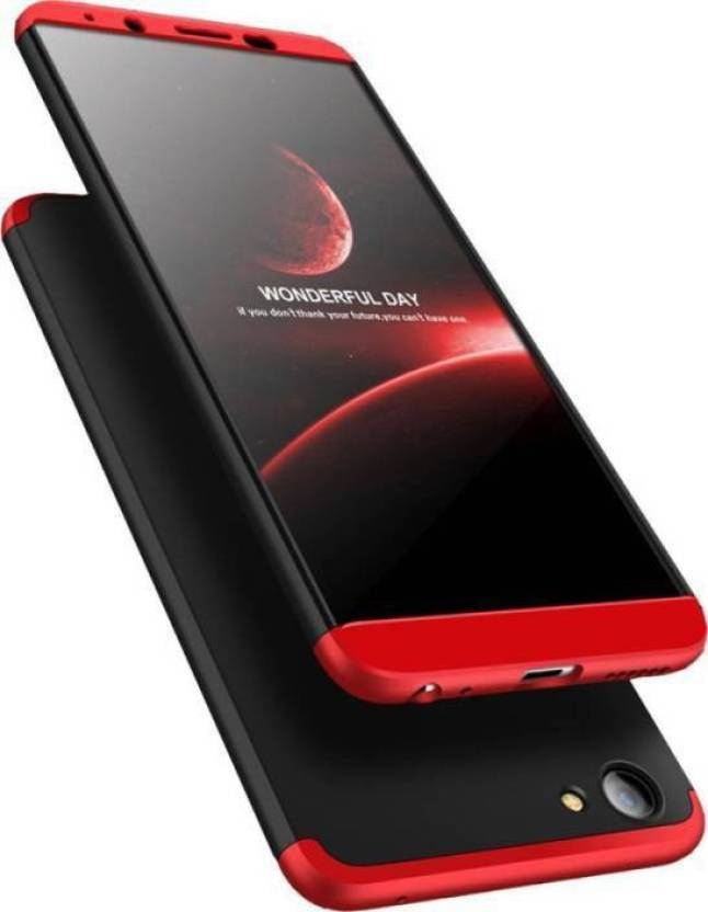 new product f3e93 5eb37 HIFAD CASE Back Cover for Premium Shockproof 3 in1 Full Body Protection  iPaky Back Cover For-OPPO F5 YOUTH-Black & Red