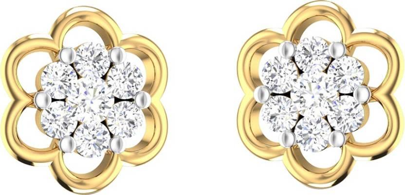 4983df86aa1f1 Flipkart.com - Buy AMANTRAN Daily Wear Earrings In Silver Yellow ...