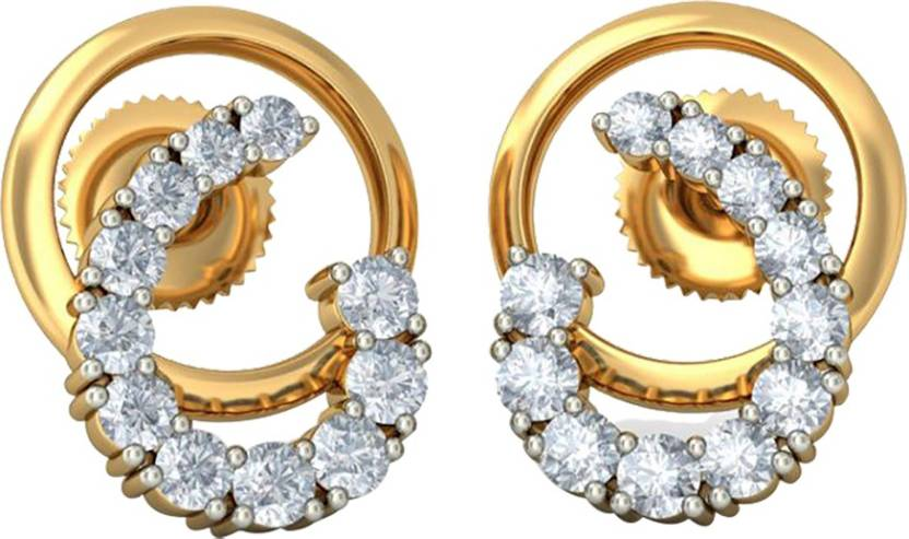 70ab17244 Flipkart.com - Buy AMANTRAN Casual Earrings In Silver Yellow Plated For  Girls Cubic Zirconia Silver Stud Earring Online at Best Prices in India
