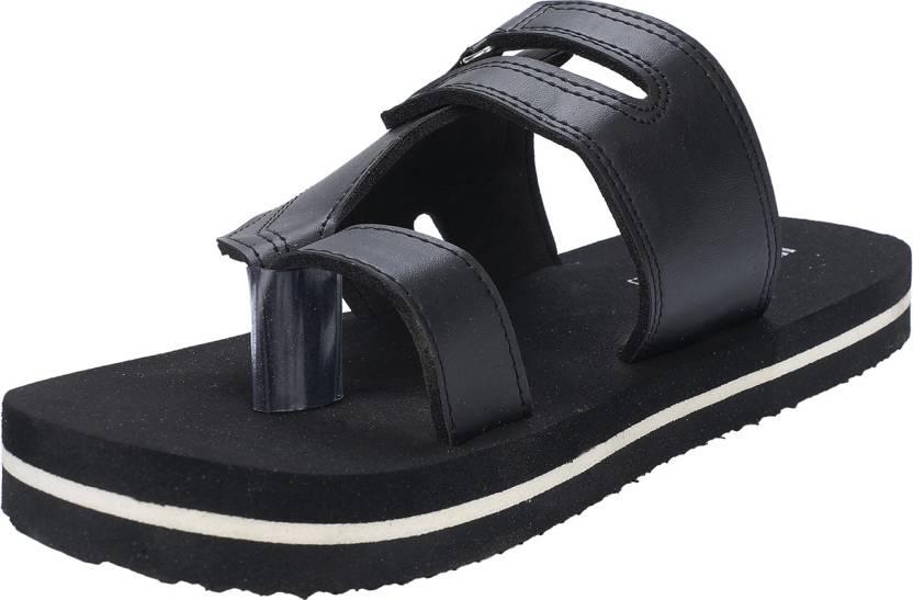 d467680bc HealthFit Men's BLACK Diabetic & Orthopedic Footwear Flip Flops - Buy  HealthFit Men's BLACK Diabetic & Orthopedic Footwear Flip Flops Online at  Best Price ...