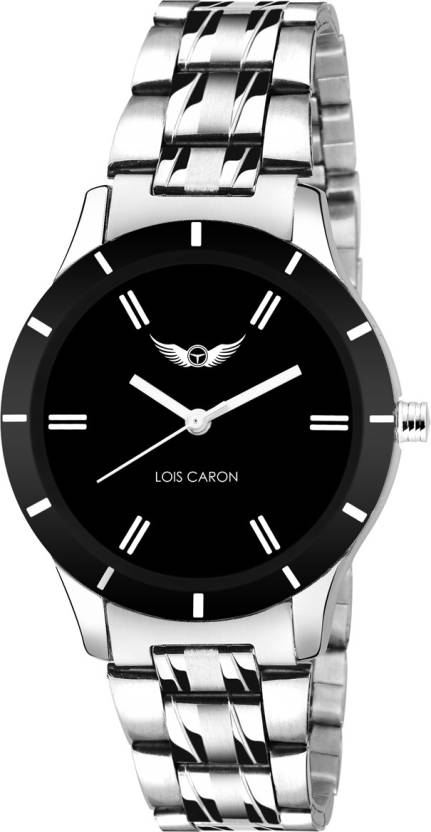 a12cefe9a80 Lois Caron LCS-4554 BLACK Watch - For Women - Buy Lois Caron LCS-4554 BLACK  Watch - For Women LCS-4554 BLACK Online at Best Prices in India