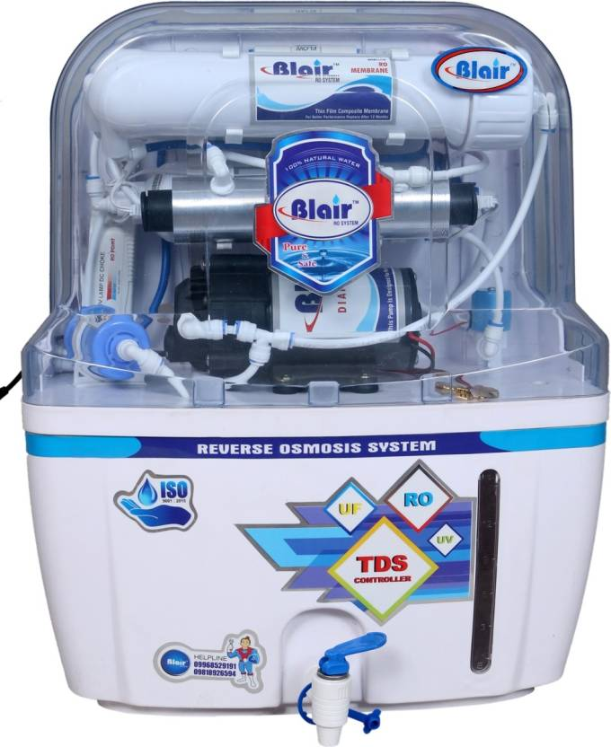 3ed44fb62e Blair Mineral RO UV UF TDS 15 L RO + UV + UF + TDS Water Purifier (White)