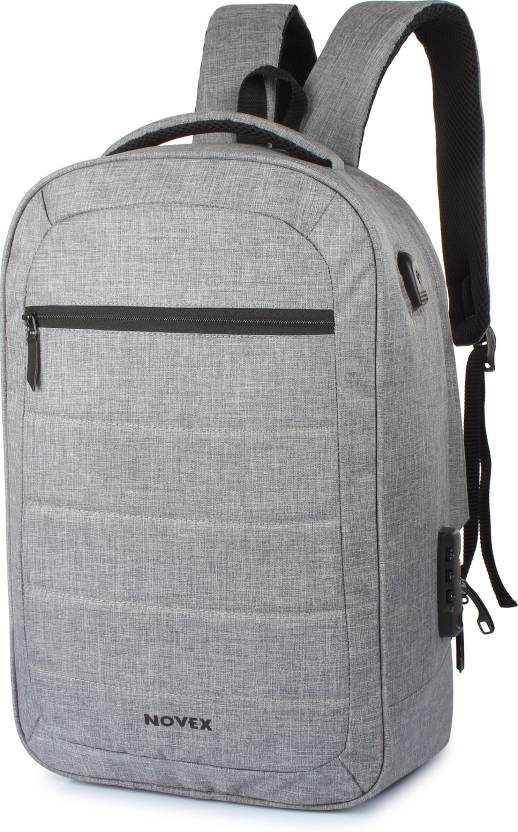d0f0a3a7d4fe Novex Anti Theft 20 L Laptop Backpack Grey - Price in India ...