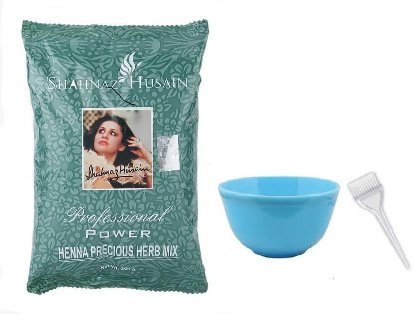 9845d0b08 Shahnaz Husain Henna Precious Herb Mix + Mixing Bowl + Brush Price ...