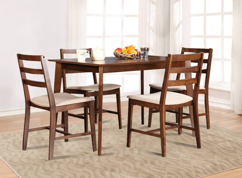 HomeTown Zina 4 Seater Dining Set Solid Wood 4 Seater Dining