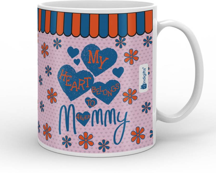 Indigifts Decorative Gift Items My Heart Belongs To Mommy Mothers Day For Mom Mummy Mother In Law Birthday