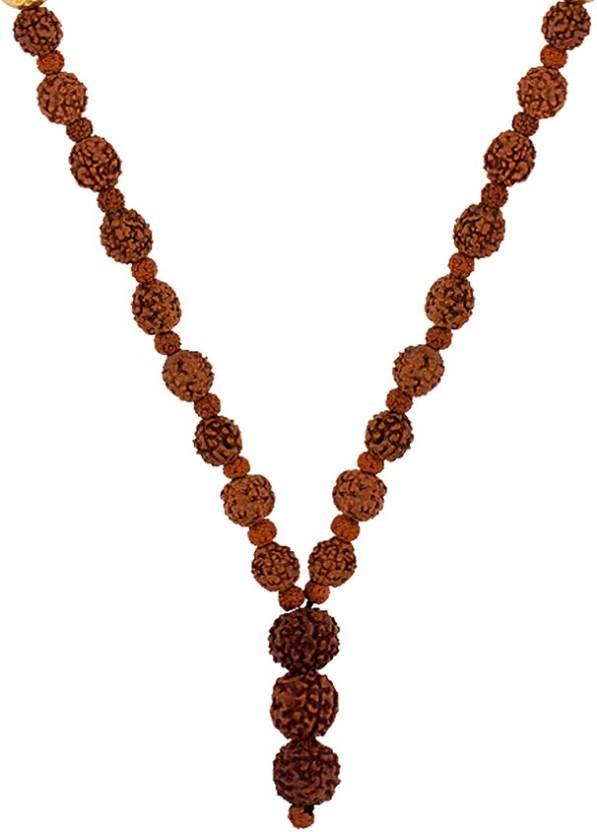 5693fb7dd465b Voylla Mahadev Chain Studded with Rudraksha Beads Gold-plated Plated Brass  Chain