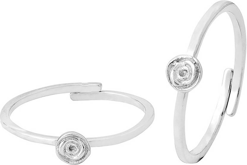 4d463777c4a70 Voylla Floral Designer Sleek Toe Rings For Women Sterling Silver Rhodium  Plated Toe Ring Price in India - Buy Voylla Floral Designer Sleek Toe Rings  For ...