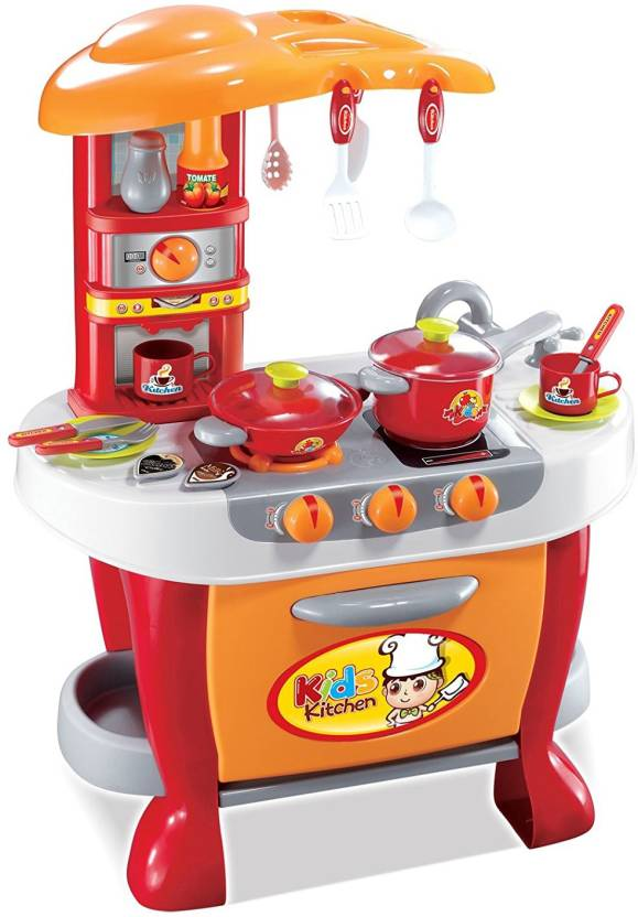 Techhark Little Chef Kids Kitchen Set Play With Light Sound