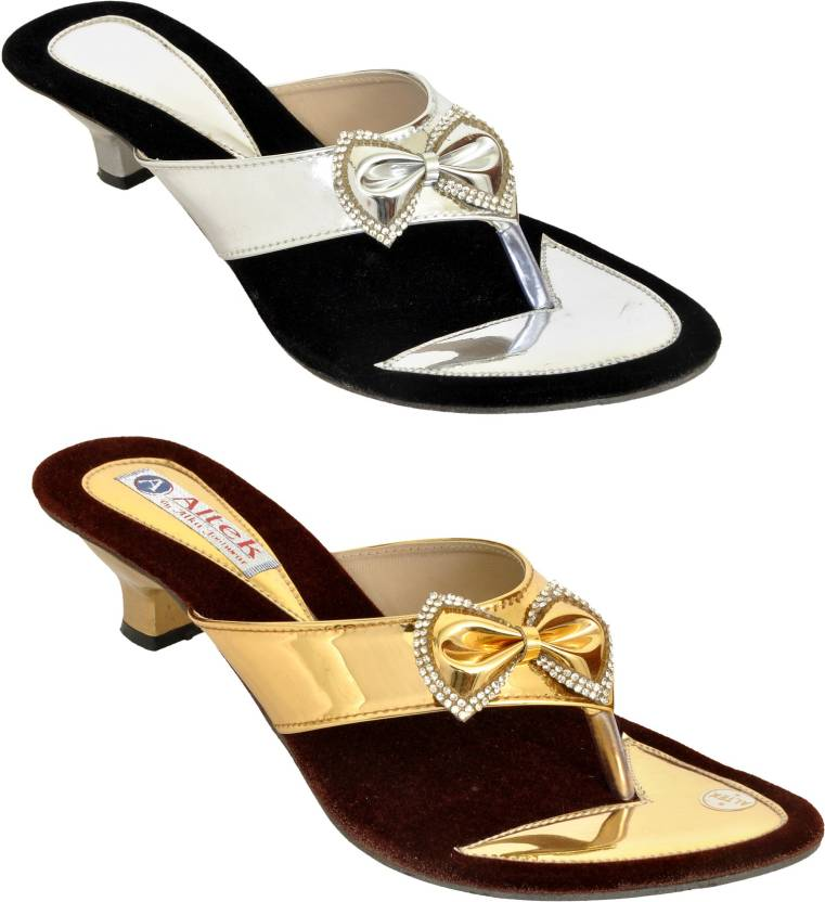 7bf5e2b6b04 Altek Women Golden and Silver Heels - Buy Altek Women Golden and Silver Heels  Online at Best Price - Shop Online for Footwears in India