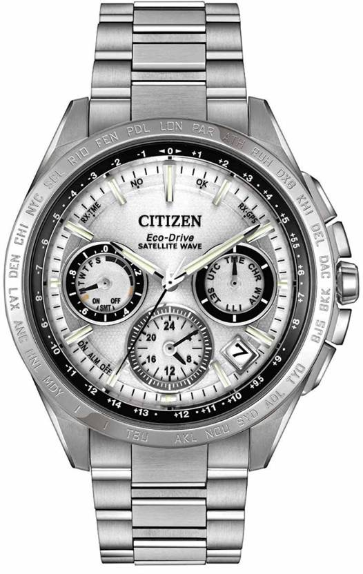 b2325e6a3787d Citizen Silver18243 Citizen Men s CC9010-74A Satellite Wave Analog Display  Japanese Quartz Silver Watch Watch - For Men - Buy Citizen Silver18243  Citizen ...