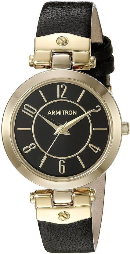0f6faf65312 Armitron black20706 Armitron Women s 75 5338BKGPBK Gold-Tone and Black  Leather Strap Watch Watch - For Women - Buy Armitron black20706 Armitron  Women s ...