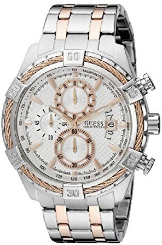 edb1f1a771d Guess Silver 15612 GUESS Men s U0522G4 Stainless Steel   Rose Gold-Tone  Chronograph Watch with Date Function Watch - For Men - Buy Guess Silver  15612 GUESS ...