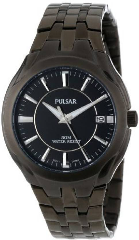 Pulsar Black 6897 Pulsar Mens Pxha27 Classic Stainless Steel Black