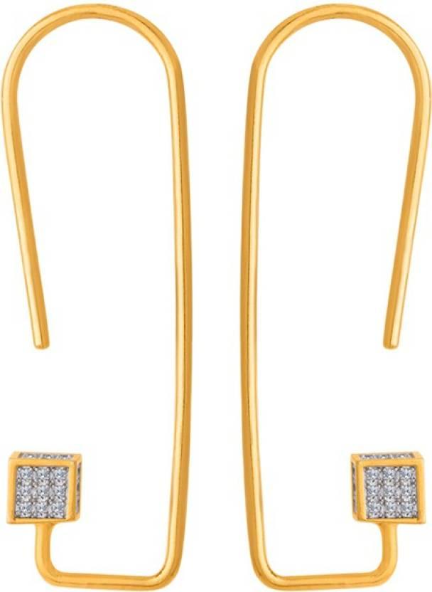 8f2d68d57 Flipkart.com - Buy Voylla Generic CZ Cube Designer Danglers Cubic Zirconia  Brass Ear Thread Online at Best Prices in India