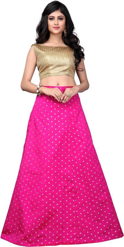 8bfd0efbd6b931 Julee Striped Semi Stitched Lehenga Choli - Buy Julee Striped Semi ...