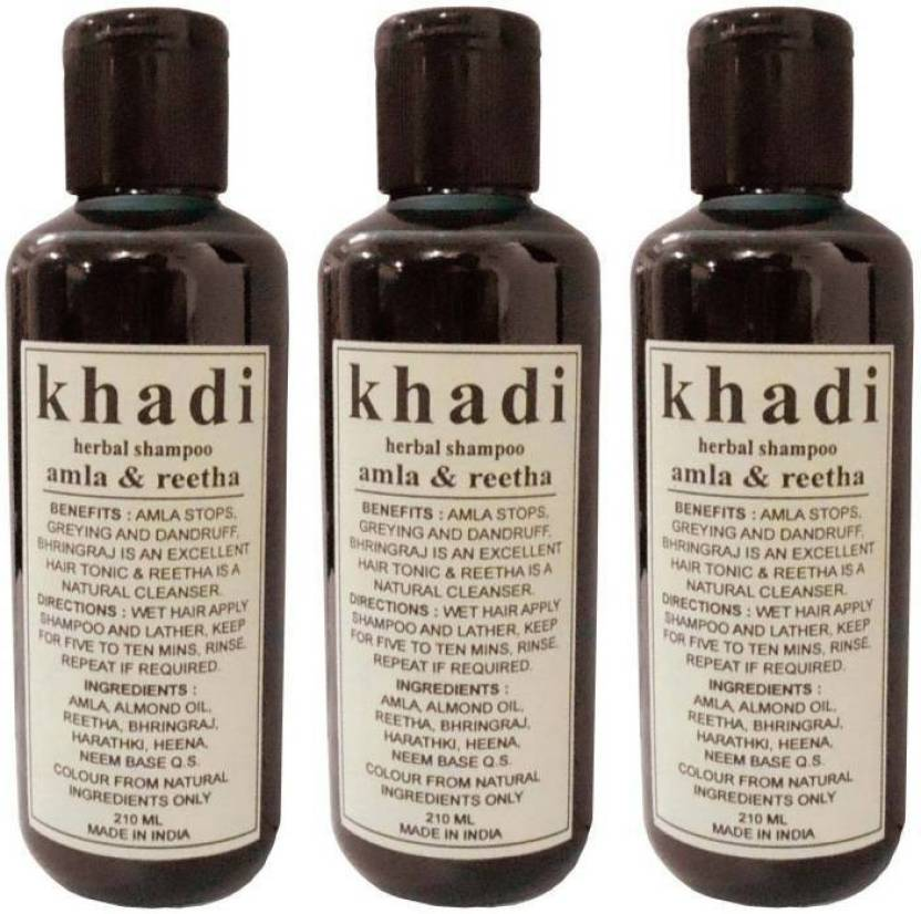 Khadi Henna Tulsi Shampoo 210 Ml Pack Of 3 Price In India Buy