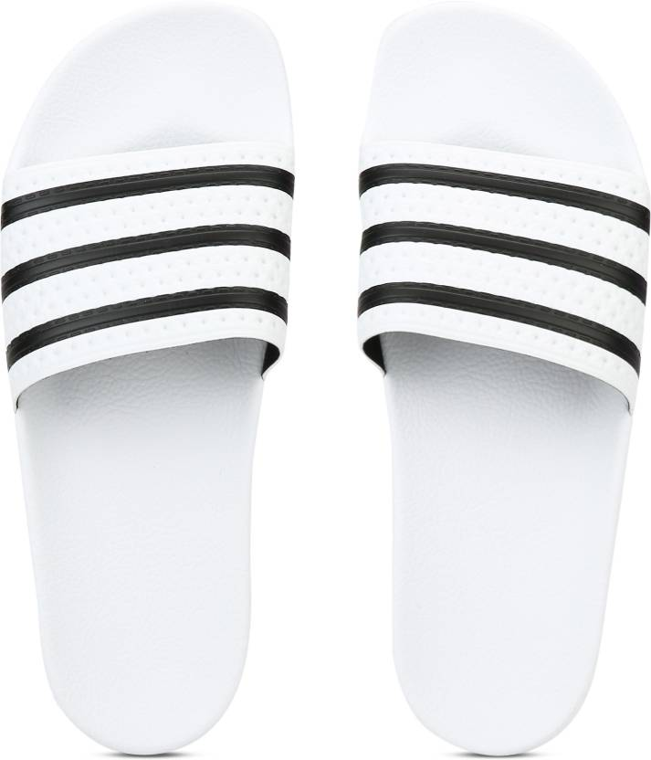 88bbb524c711ae ADIDAS ORIGINALS ADILETTE Slides - Buy WHITE CBLACK WHITE Color ADIDAS  ORIGINALS ADILETTE Slides Online at Best Price - Shop Online for Footwears  in India ...