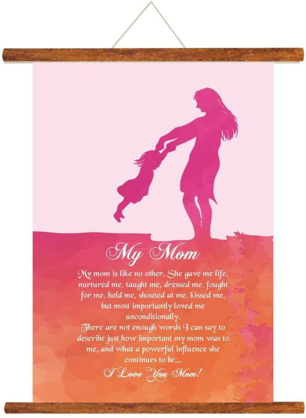 Giftsmate Mothers Day Gifts From Daughter Greeting Cards My Mom Scroll Card For Wall Hanging