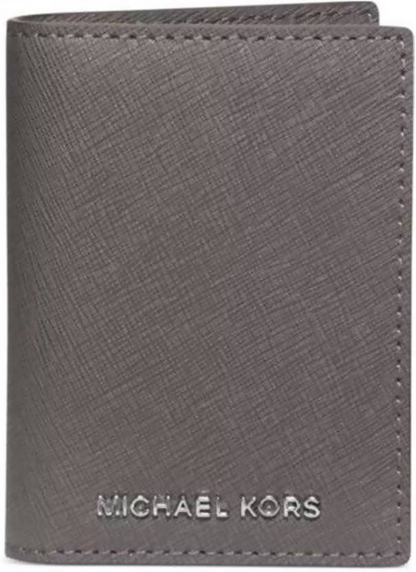 7244ebf52b14 Michael Kors Women Grey Genuine Leather Wallet Grey - Price in India ...