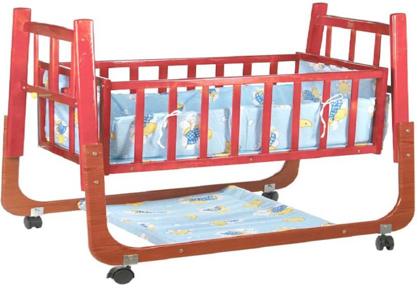 Meemee Baby Cradle With Swing And Mosquito Net Wooden