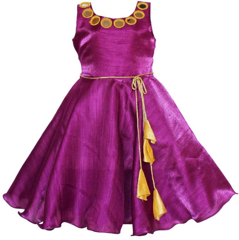 MVD Fashion Girls Maxi/Full Length Party Dress Price in India - Buy ...
