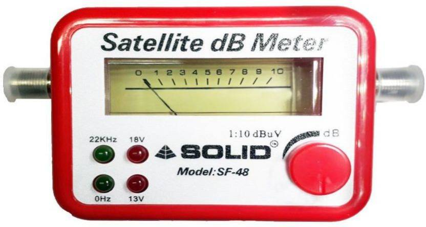 FineArts Satelitr DB Meter Satellite Signal Finder DB Meter For Full-HD  Dish T V Network Setting ( SF-48) Non-magnetic Electronic Level