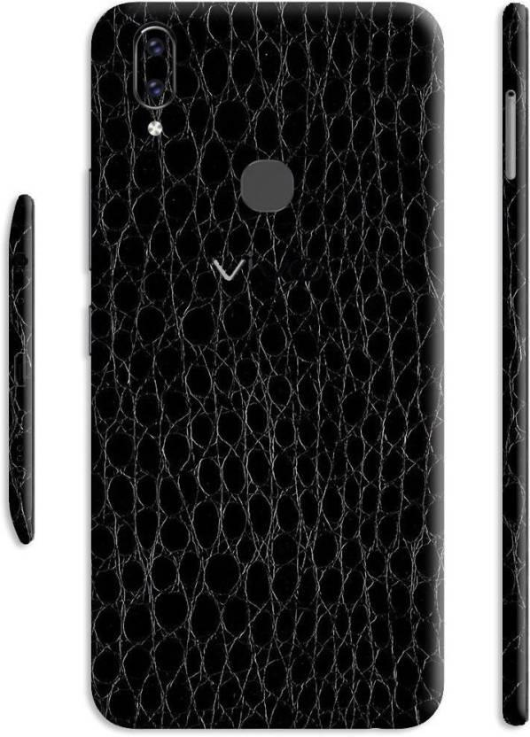 Crystal Coat Textured Leather Back   Side Skin Sticker Vivo V9 Mobile Skin  (Black) 903b836e43