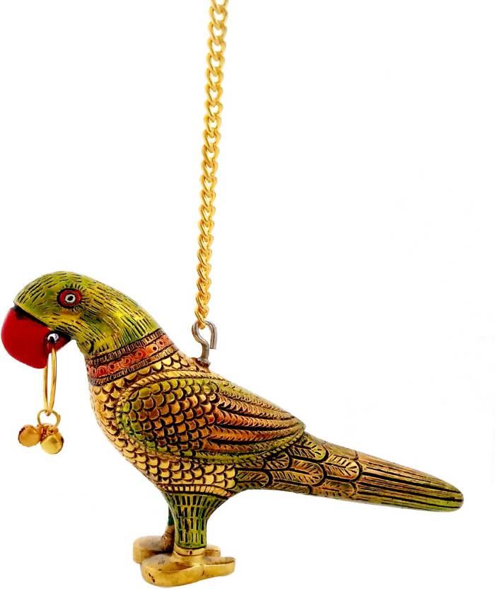 Etsi Bitsi White Metal Golden Parrot Door Hanging Gift Home Decor Inauguration Decorative