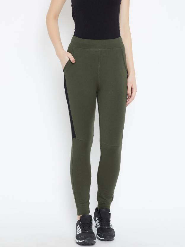 84998a4e2c93 C9 Solid Women Green Track Pants - Buy C9 Solid Women Green Track Pants  Online at Best Prices in India