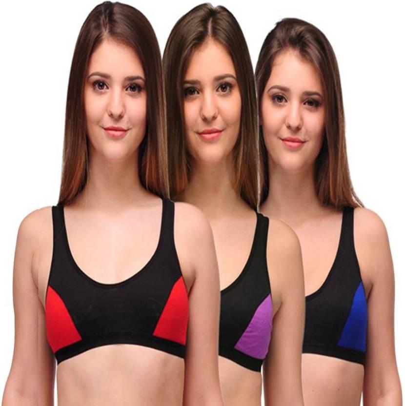 d80b311f866 JSR Paris Beauty by JSR PARIS BEAUTY Women Sports Non Padded Bra (Multicolor )