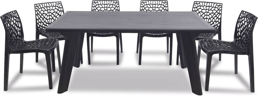 new product 972b0 8be48 supreme Web Plastic 6 Seater Dining Set Price in India - Buy ...