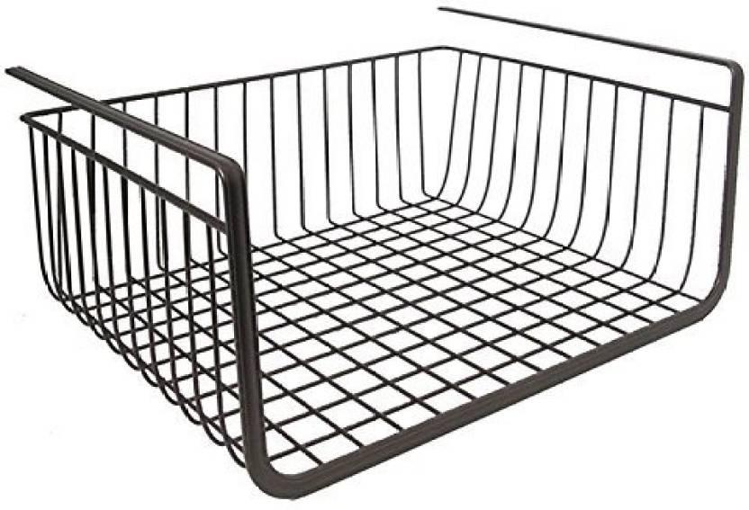 Under Shelf Wire Rack | House Of Quirk Black Under Shelf Basket Wire Rack Easily Slides