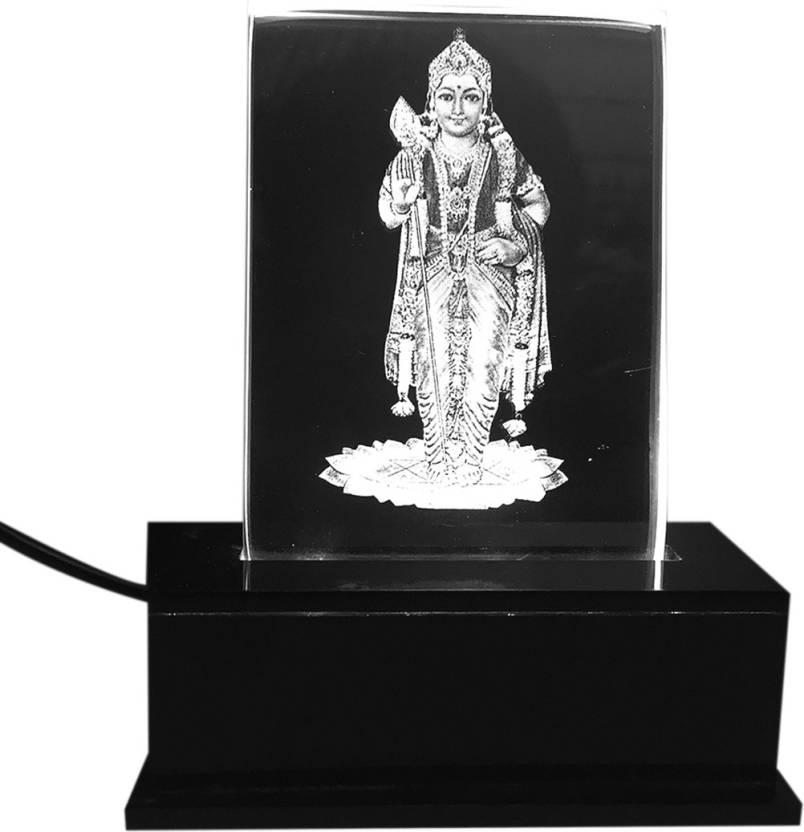 Gondget God Murugan Car Dashboard Idol Small With White Lights