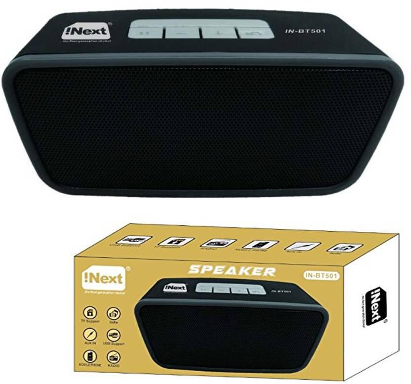 Inext 501 BT FM USB/ SD Portable Bluerooth speakar PRO-998 (GRAY)