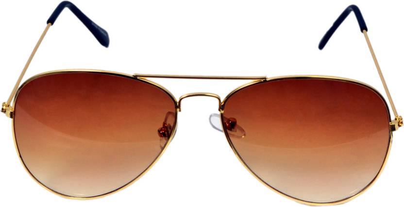 f074c2e1a0 Buy ANSH BLUE BAY COMPANY Aviator Sunglasses Brown For Boys   Girls ...
