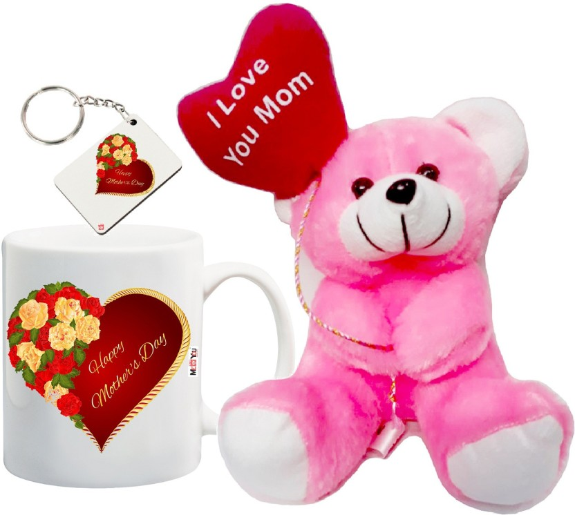 Gift Present Christmas Birthday We Love You Mummy Pink Heart Keyring