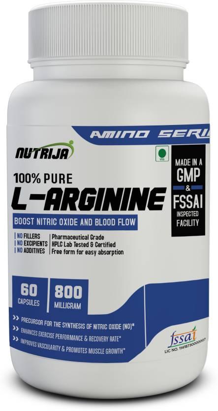 NutriJa L-ARGININE 800MG - 60 Veg Capsules Price in India - Buy ... d40f2e18adba