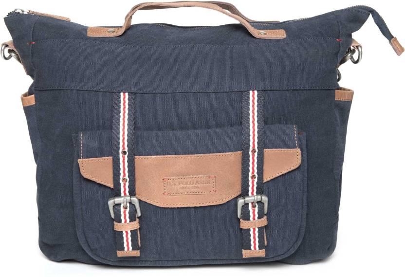 1e19b184fd19 U.S. Polo Assn USAB0133 Messenger Bag (Blue
