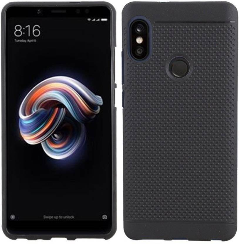 ee0d4465e5 NUCOSMO Back Cover for Mi Redmi Note 5 Pro, Mi Redmi Note 5 Pro, Dotted  printed with Candy line, Black (Black, Dual Protection, Rubber)