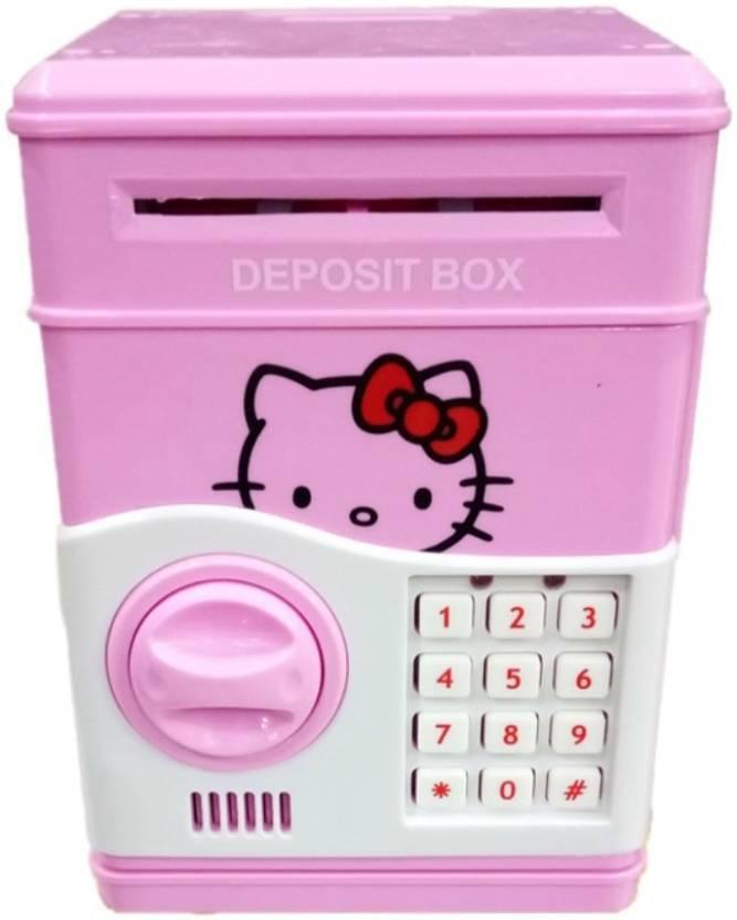 Happiesta Hello kitty money box for kids Coin Saving ATM