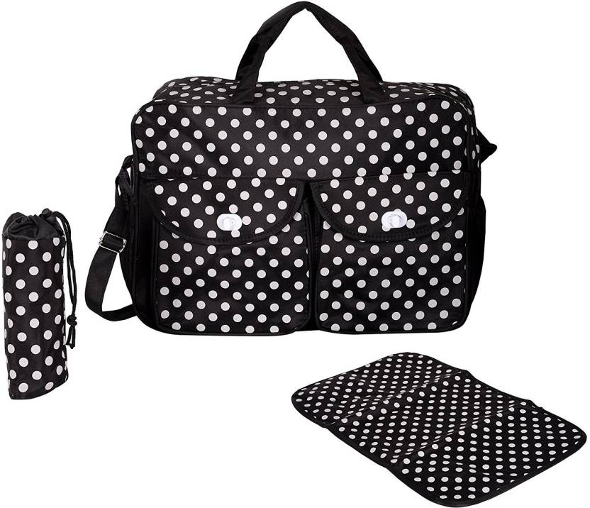 f743f8e063 PackNBuy Stylish Big Size Polka Dot Diaper Bag Diaper Bags for Stylish Mom ( Black)