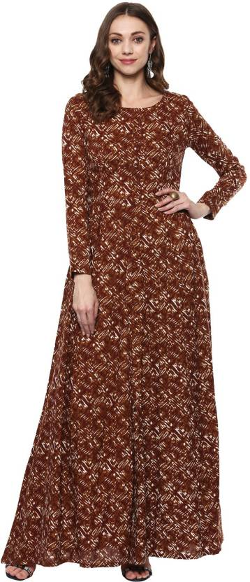0af97c53c76 Indian Virasat Women s Gown Brown Dress - Buy Indian Virasat Women s ...