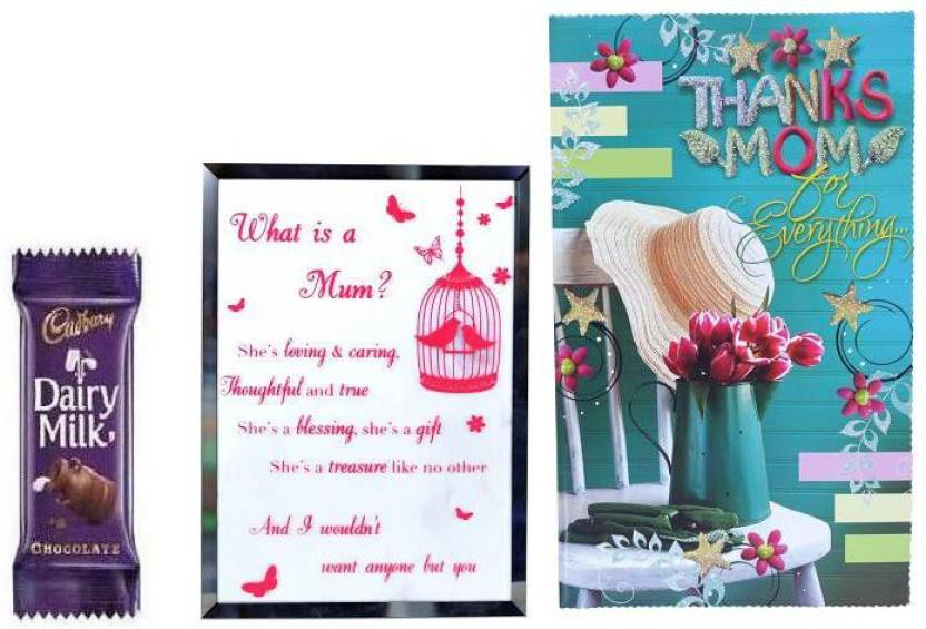 Indigo creatives mothers day greeting card with table desk top photo indigo creatives mothers day greeting card with table desk top photo frame size poster and chocolate m4hsunfo