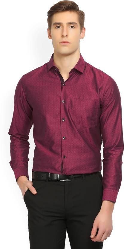 978592fa6529 Black Coffee Men s Self Design Formal Spread Shirt - Buy MAROON BLACK Black  Coffee Men s Self Design Formal Spread Shirt Online at Best Prices in India  ...