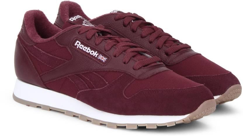 ba252d4b9ab21 REEBOK CL LEATHER ESTL Sneakers For Men - Buy URBAN MAROON WHITE ...